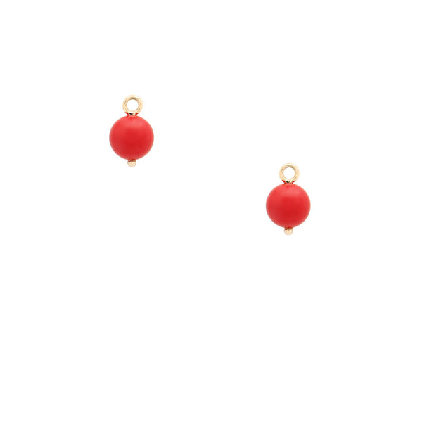 Victoire Red 8mm Earring Drops