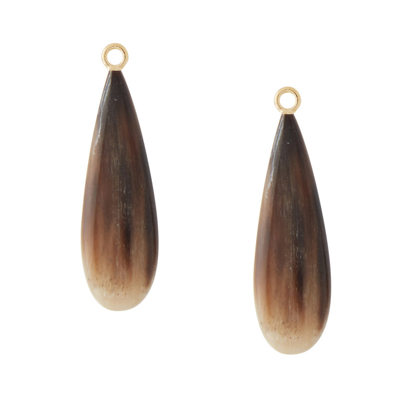 Horn Teardrop Earring Drops