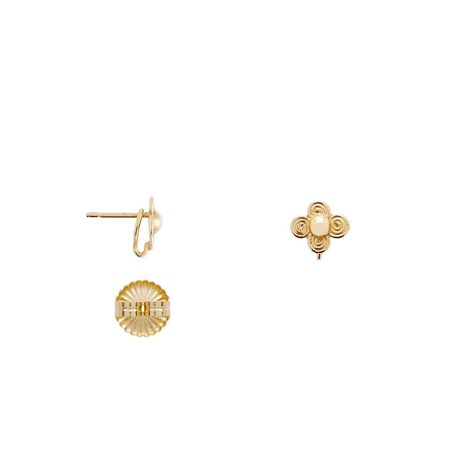 The 18K Micro Petal Earrings