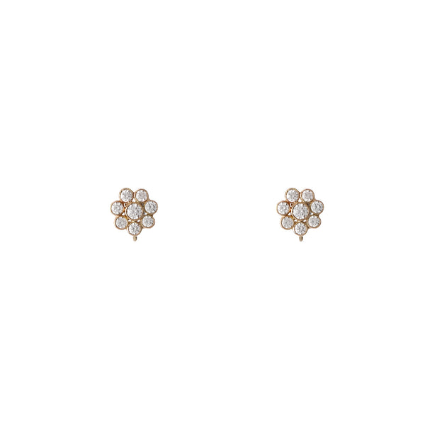 18K Mini Blossom Earrings