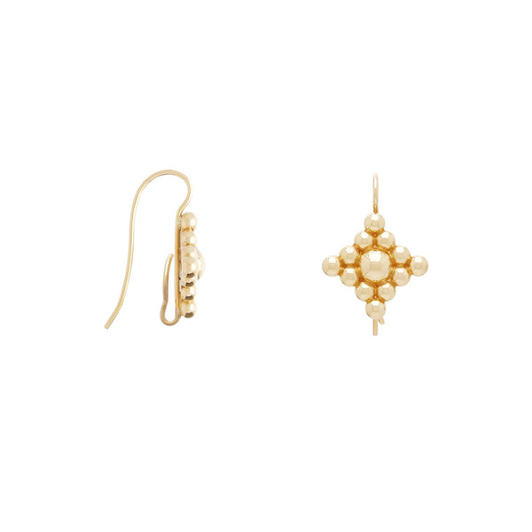 18K Large Filigree Hook Earrings