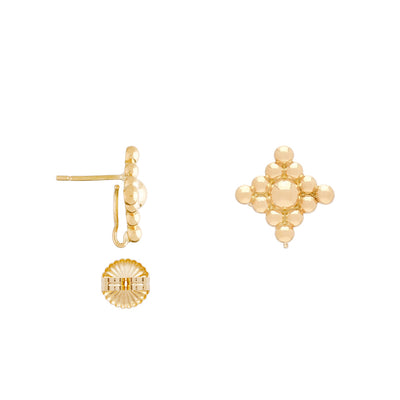 18K Large Filigree Stud Earrings