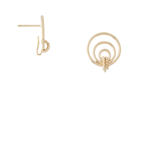 14k Orbit Earrings