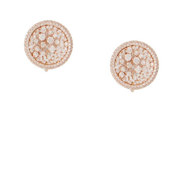 Celestial 18K Rose Gold & Diamond Earrings