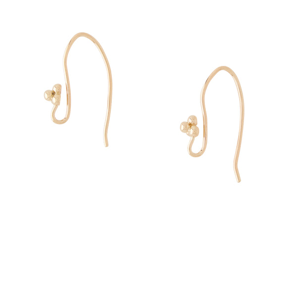 14K Filigree Gold Thread Earrings