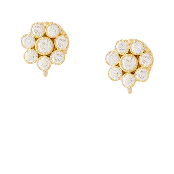 18K Yellow Gold Mini Blossom Earrings