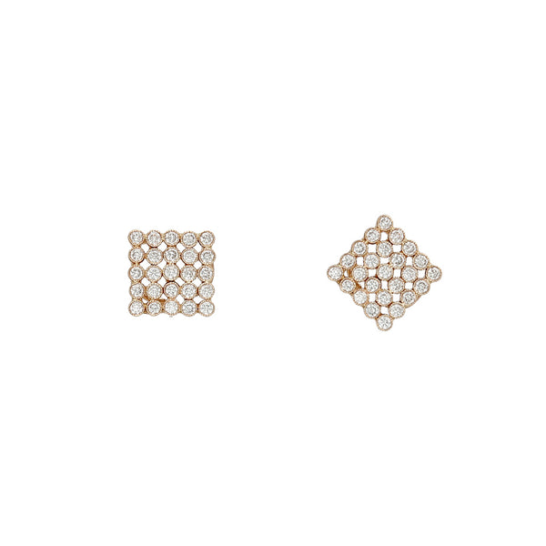 14K Yellow Gold Marquee Diamond Earrings