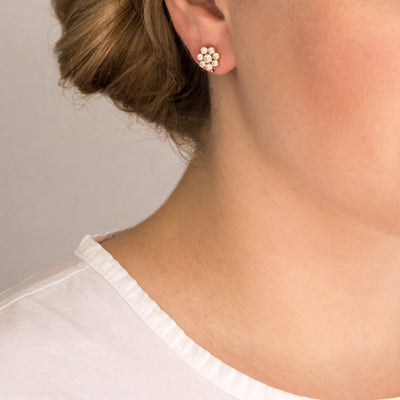 The 18K Mini Blossom Earrings