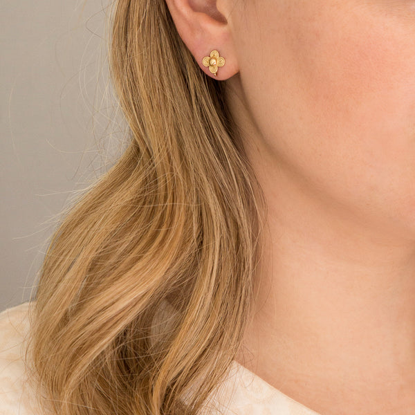 18K Micro Petal Earrings