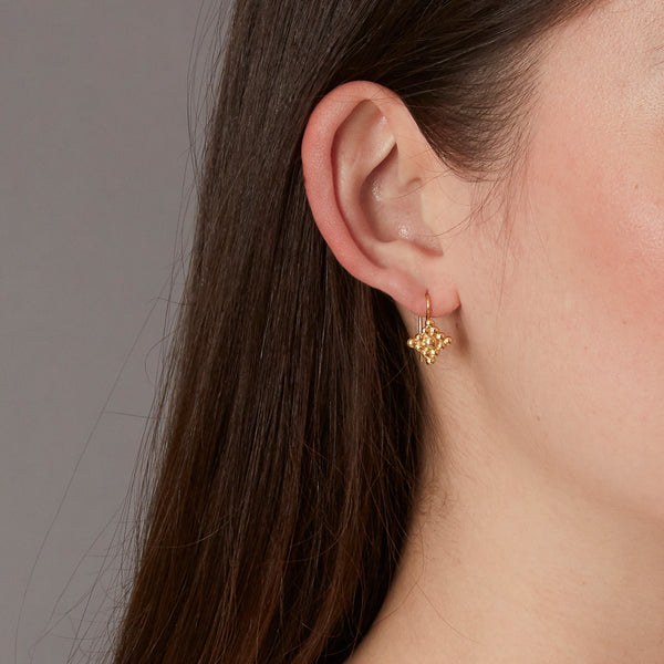 18K Micro Filigree Hook Earrings