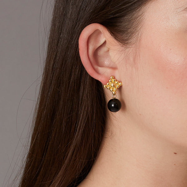 Victoire Black 12mm Earring Drops