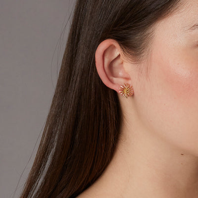 18K Mini Burst Earrings