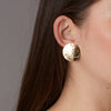 14K Large Sunshine Gold Earrings