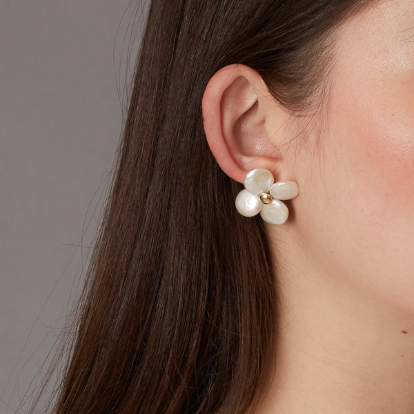 Dames Rocket Pearl Earrings