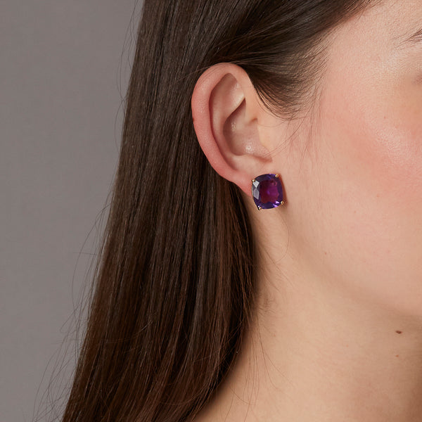 Lumiere Amethyst Faceted Earrings