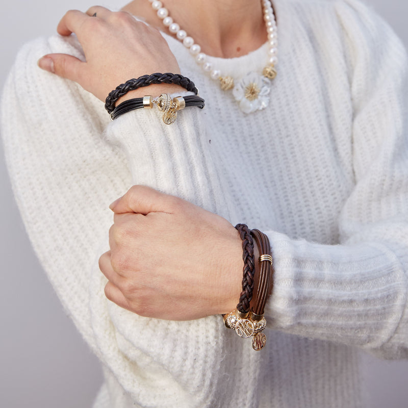 Bolo Brown Leather Bracelet