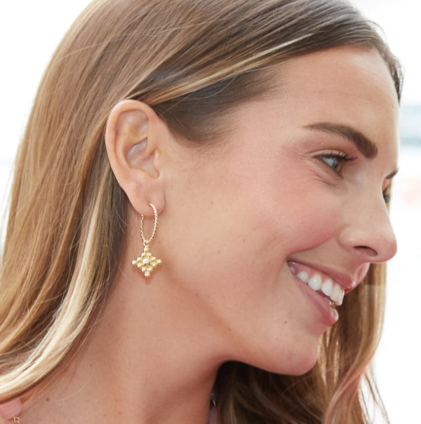 Filigree 18K Yellow Gold Drops