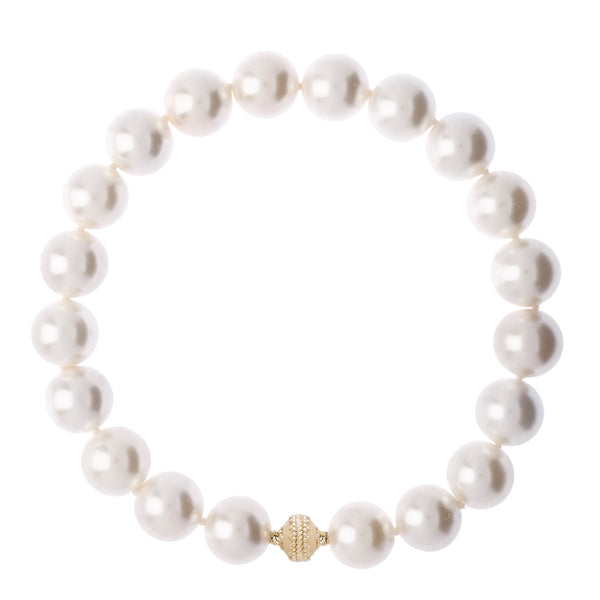 Victoire White Pearl 20mm Necklace