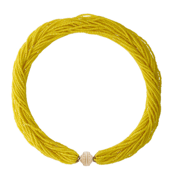 Emily Canary Yellow Multi Strand Necklace