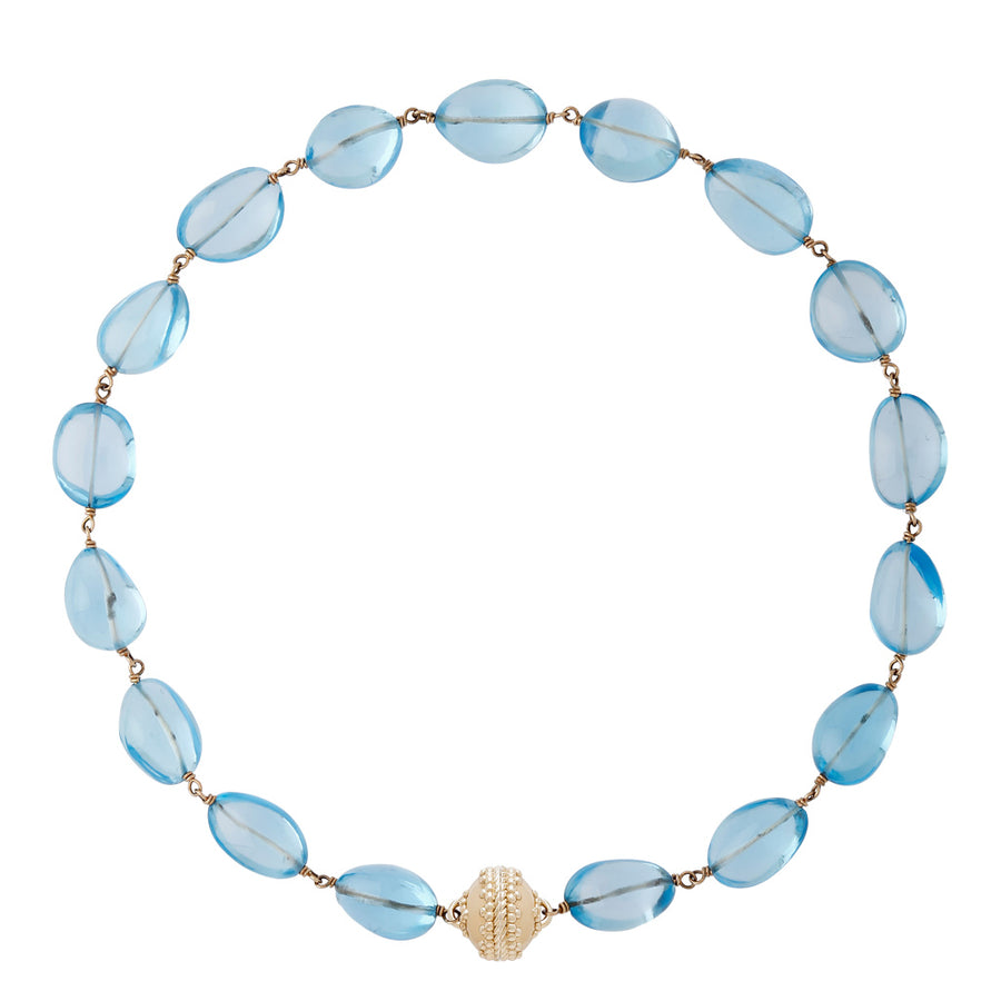 Tumbled Blue Topaz Caspian Necklace