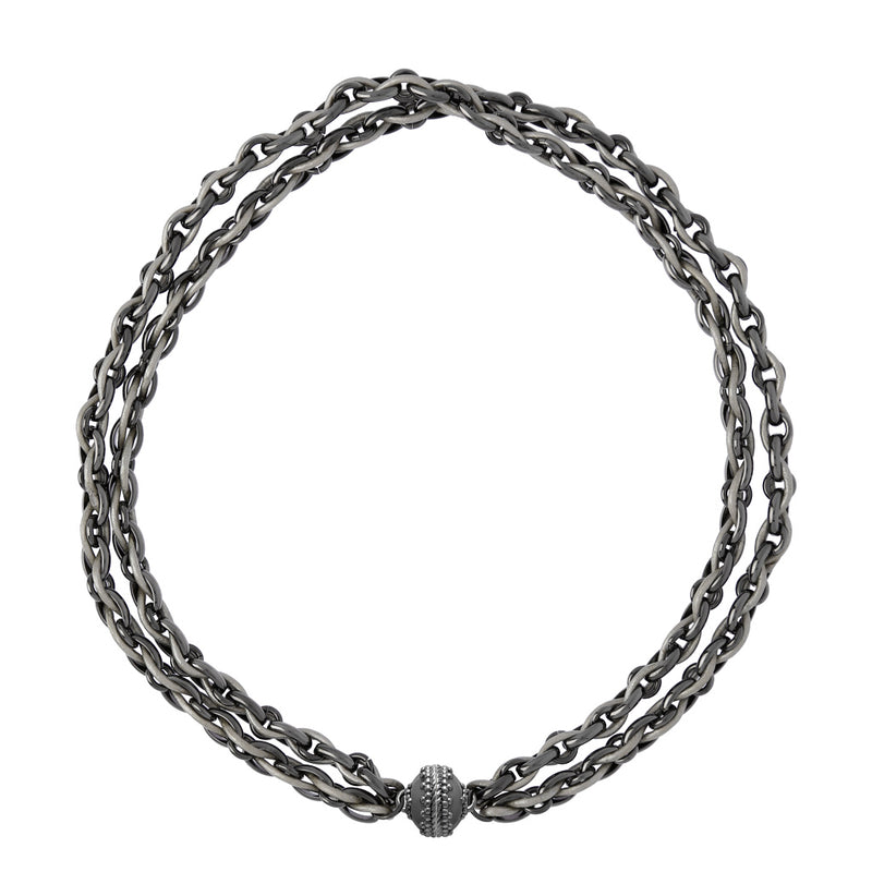 Randolph Double Strand Gunmetal Necklace