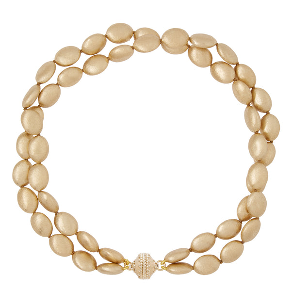 Large Gold Rush Plated Gold Double Strand Necklace
