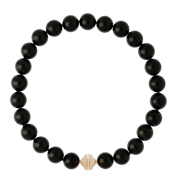 Victoire Black 16mm Necklace