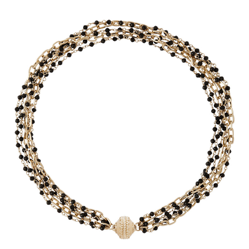 Ashley Spinel Multi Strand Necklace
