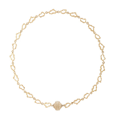 18K Single Strand Seaside Necklace