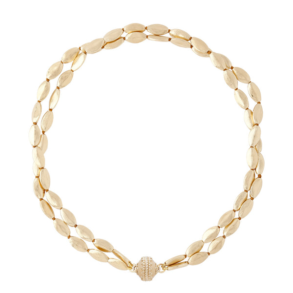 Gold Rush Plated Gold Double Strand Necklace
