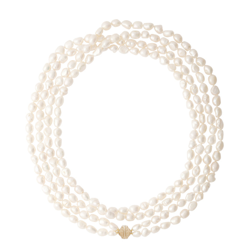 Irregular Pearl Opera Necklace