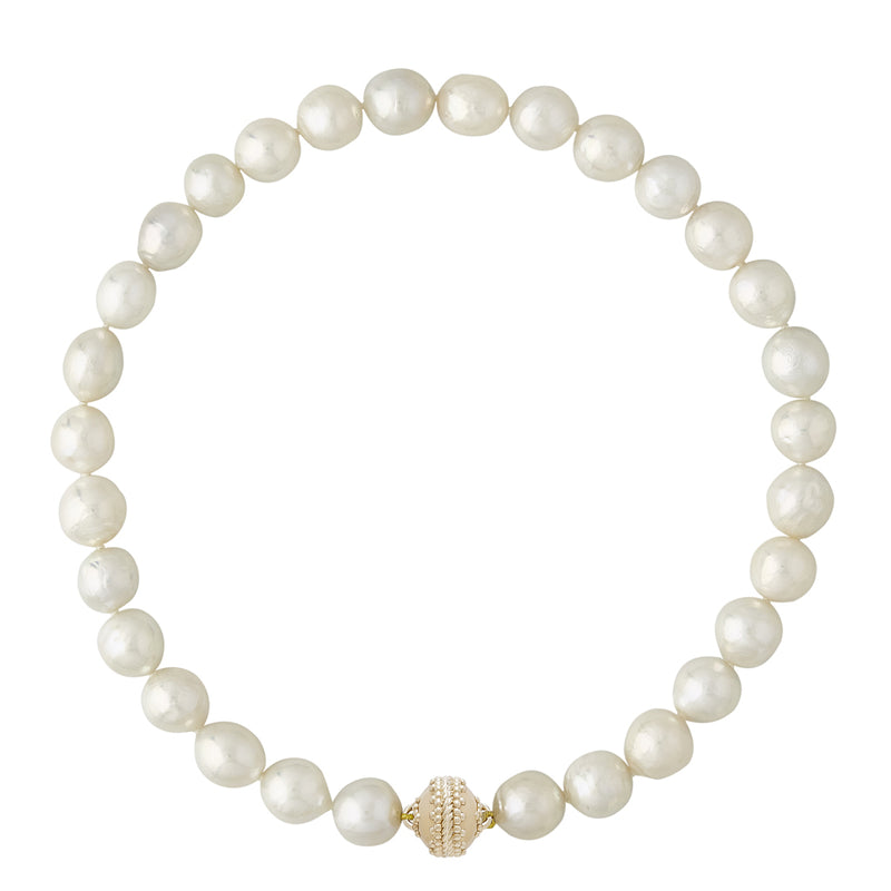 White Baroque Pearl 11-13mm Necklace