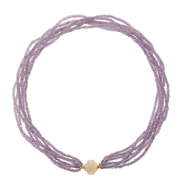 Michel Amethyst Multi Strand Necklace