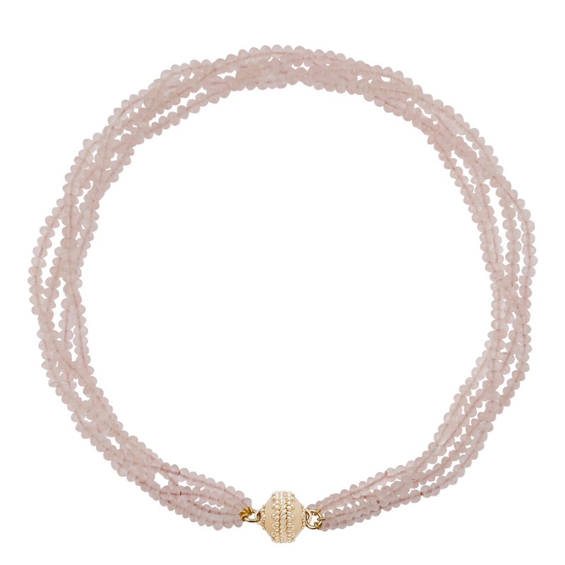 Rose Quartz Rhondelle Necklace