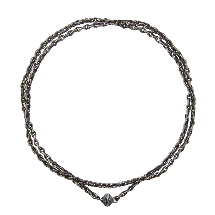 Randolph Opera Gunmetal Necklace