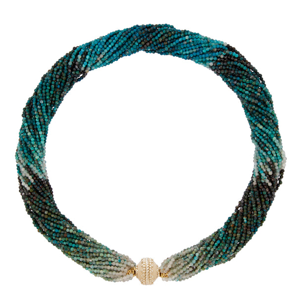 Michel Chrysocolla Multi Strand Necklace