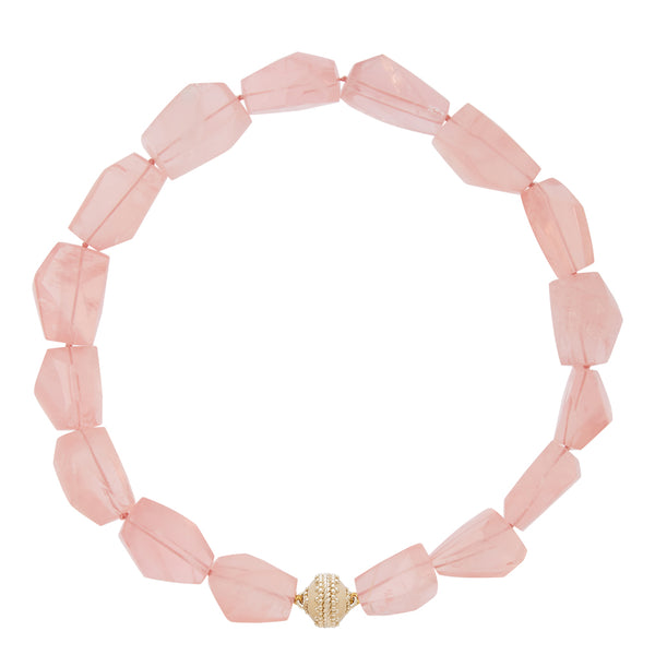 Nancy Rose Quartz Necklace