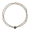 Amalfi Opal Double Strand Gunmetal Necklace