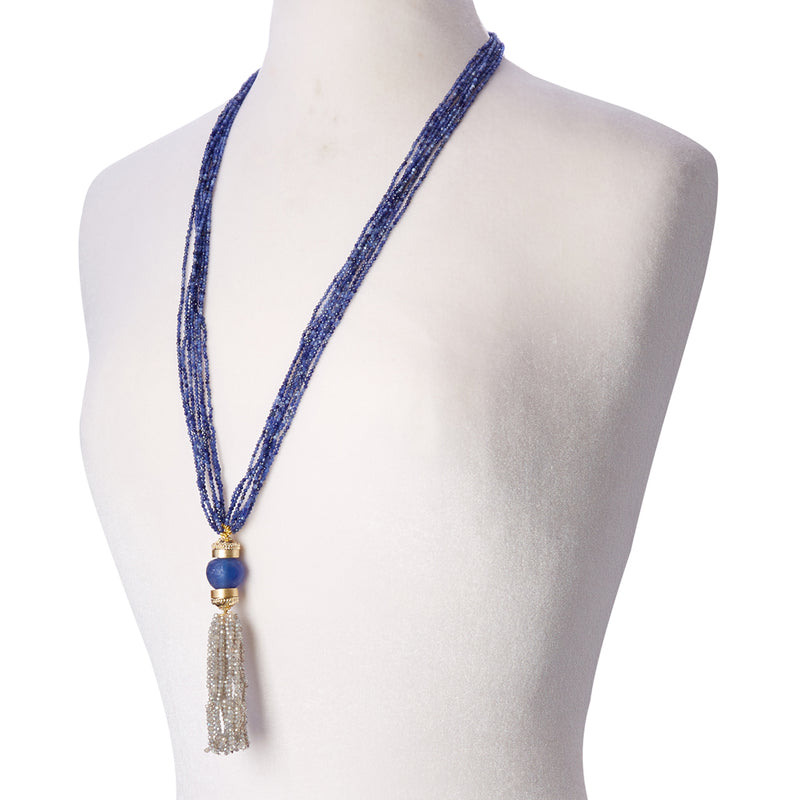 Michel Sodalite Multi Strand Necklace