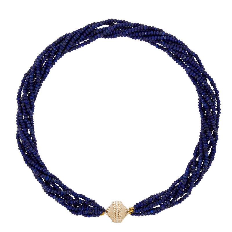 Michel Lapis Multi Strand Necklace