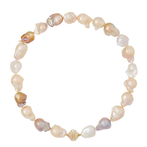 Multi Color Baroque Pearl Necklace
