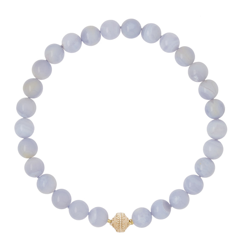 Victoire Chalcedony 14mm Necklace