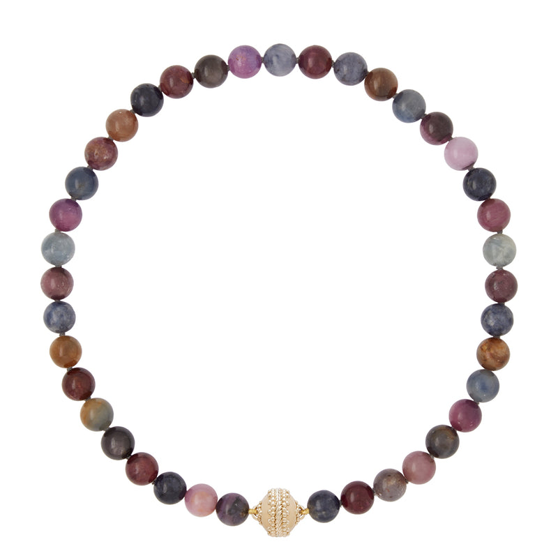 Victoire Ruby and Sapphire 10mm Necklace