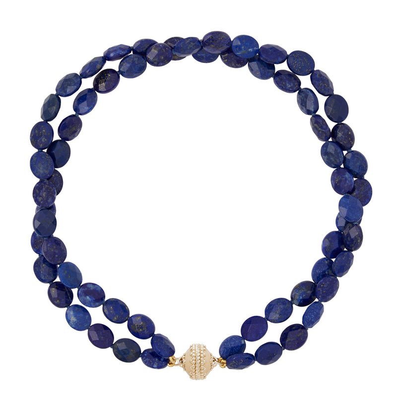 Nancy Lapis Double Strand Necklace