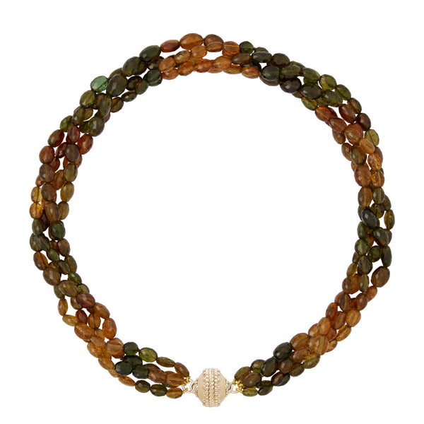 Nancy Tourmaline Multi Strand Necklace
