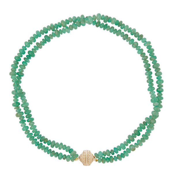 Ethiopian Emerald Rondell Double Strand Necklace