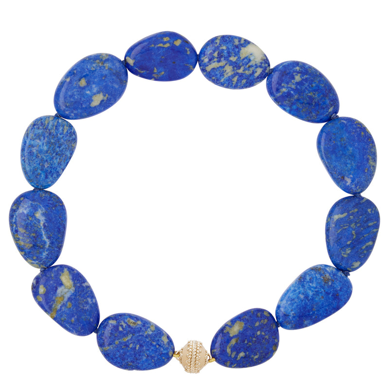 Flat Tumbled Lapis Necklace