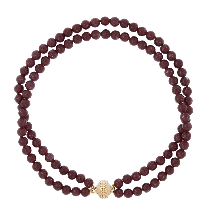 Victoire Lepidolite 8mm Double Strand Necklace