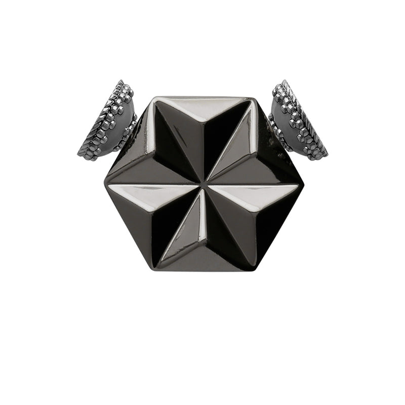 Small Kaleidoscope Gunmetal Centerpiece
