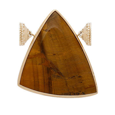 Tiger's Eye Triangle Centerpiece